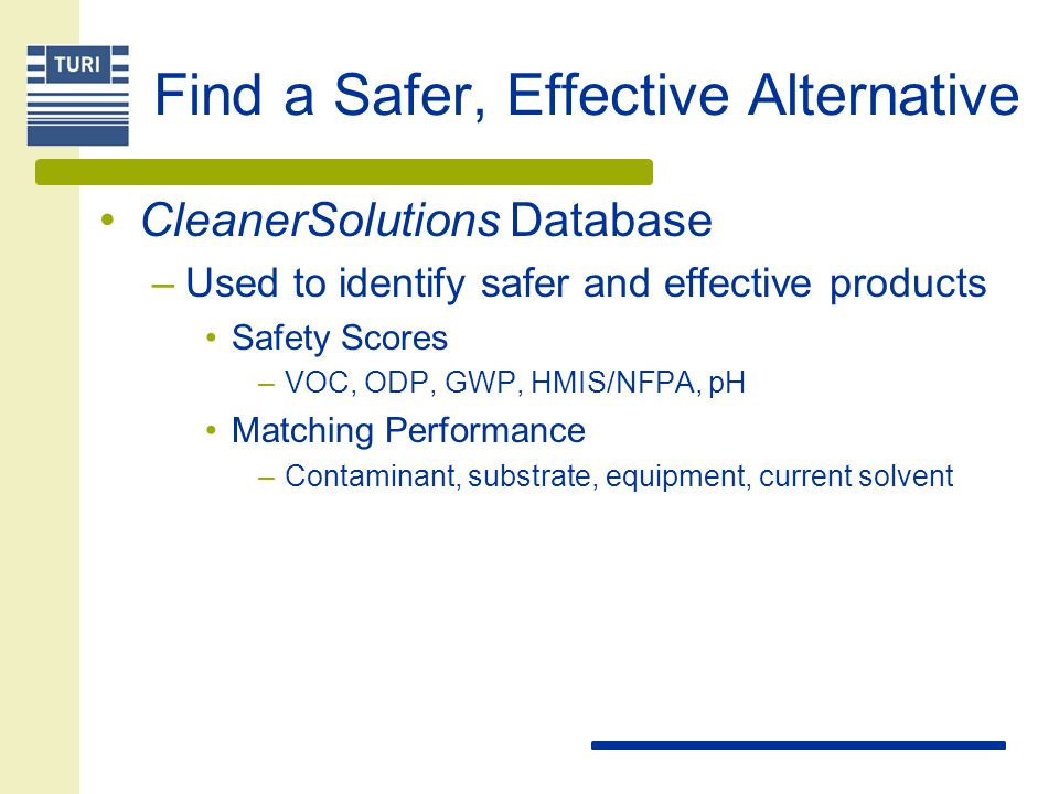 Find a Safer, Effective Alternative