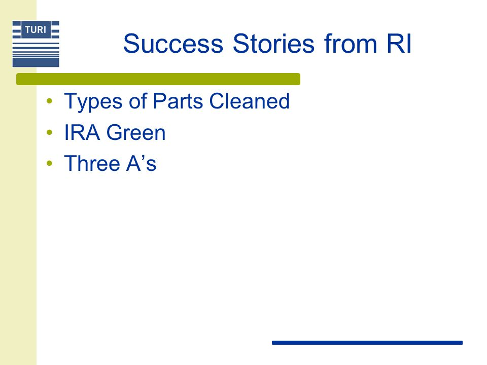 Success Stories from RI
