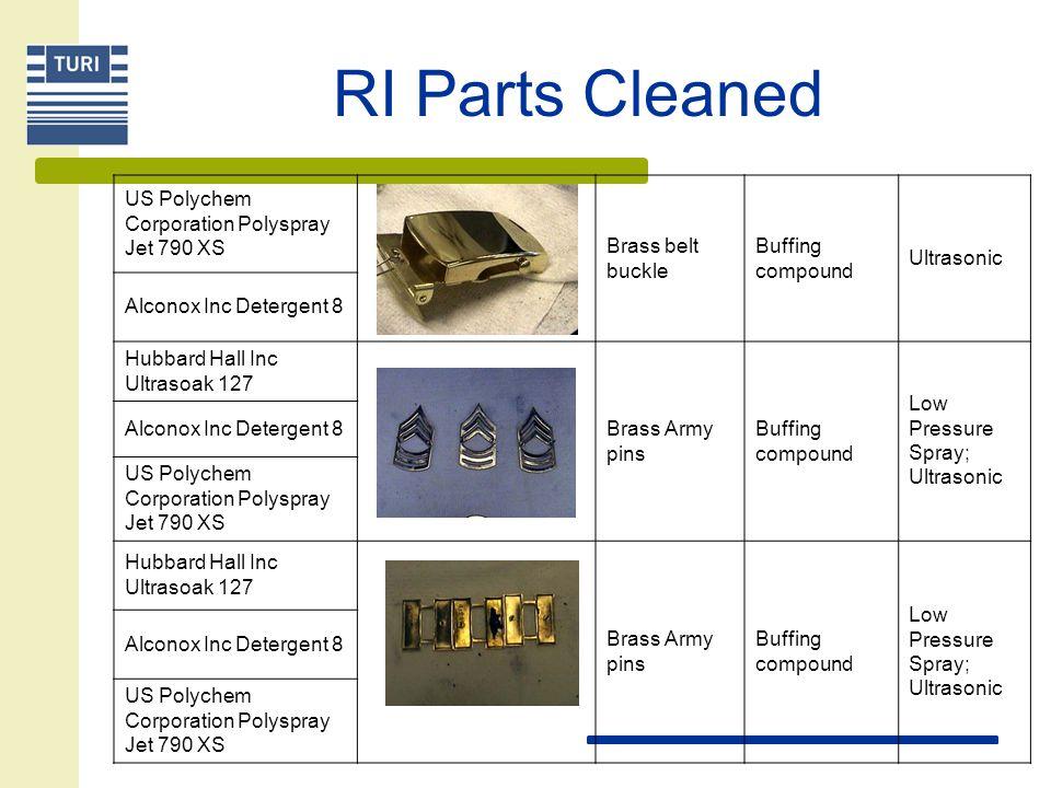 RI Parts Cleaned US Polychem Corporation Polyspray Jet 790 XS