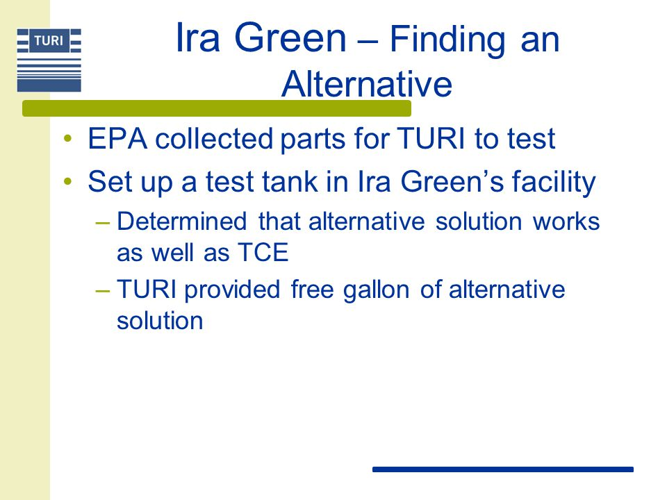 Ira Green – Finding an Alternative