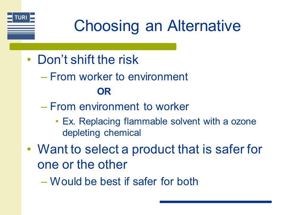 Choosing an Alternative