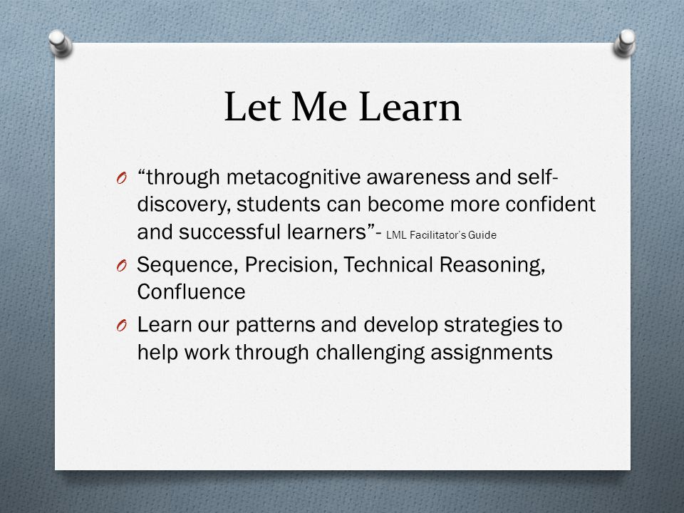 Let Me Learn