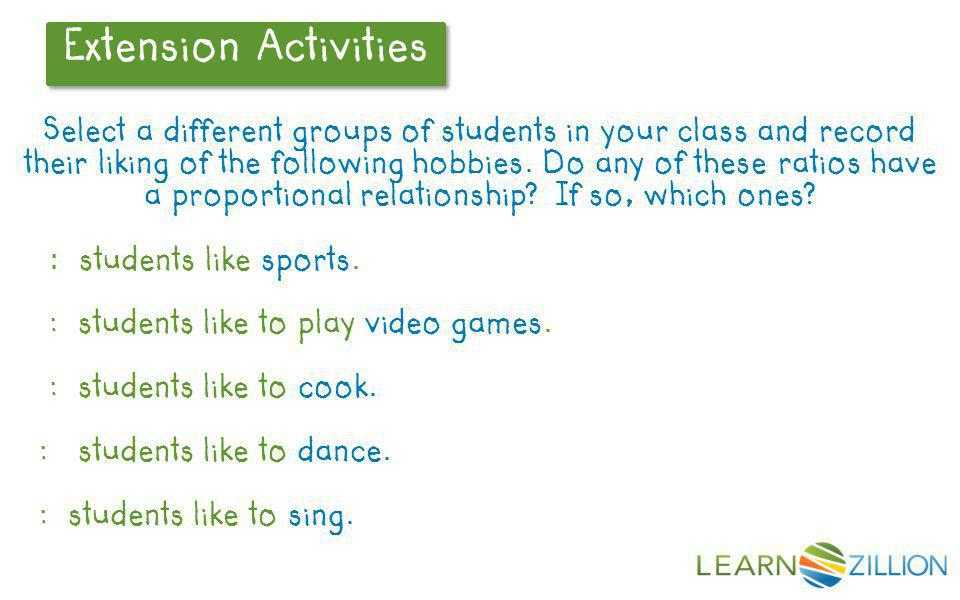 : students like to play video games. : students like to cook.