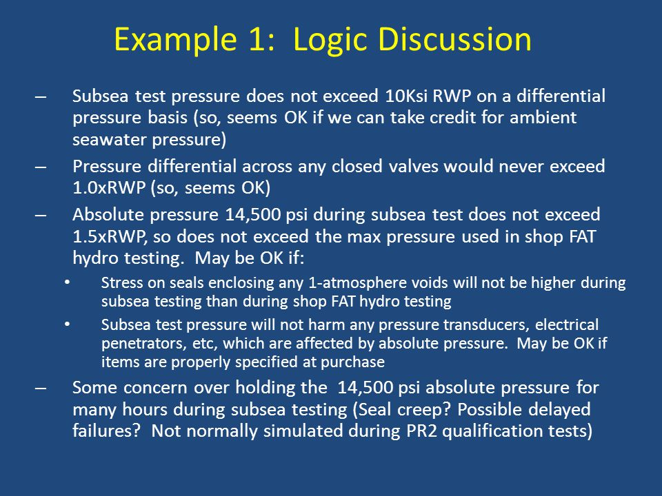 Example 1: Logic Discussion