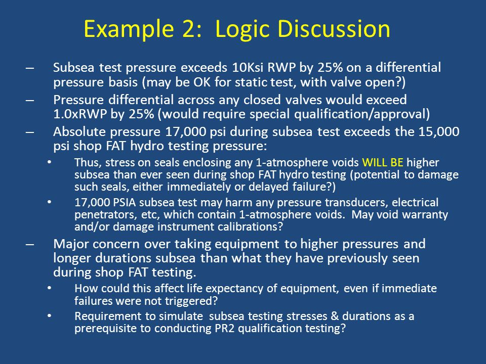 Example 2: Logic Discussion