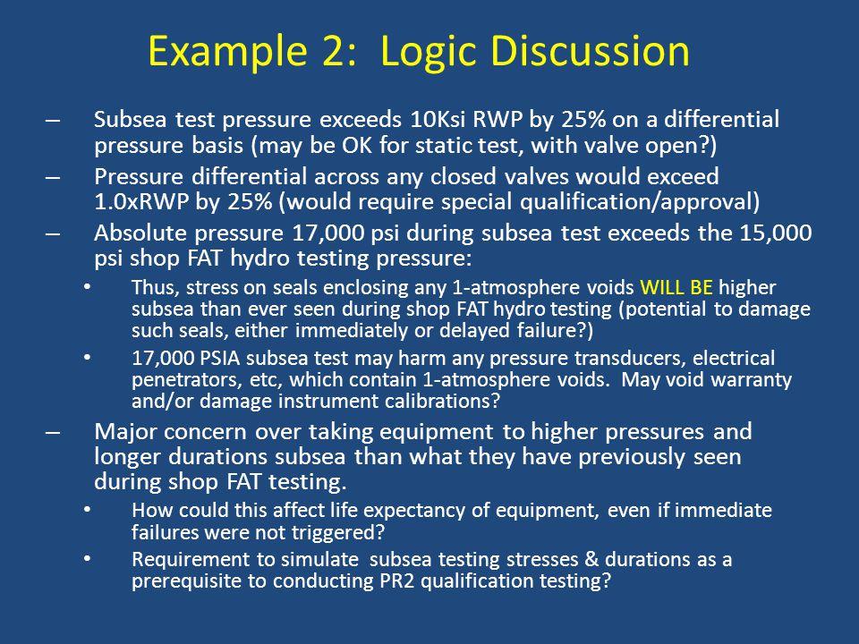 Example 2: Logic Discussion