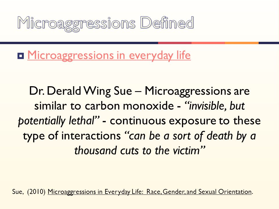 Microaggressions Defined