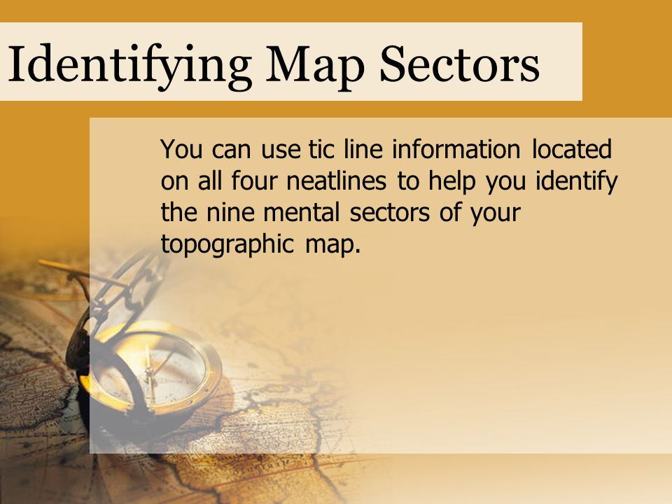 Identifying Map Sectors