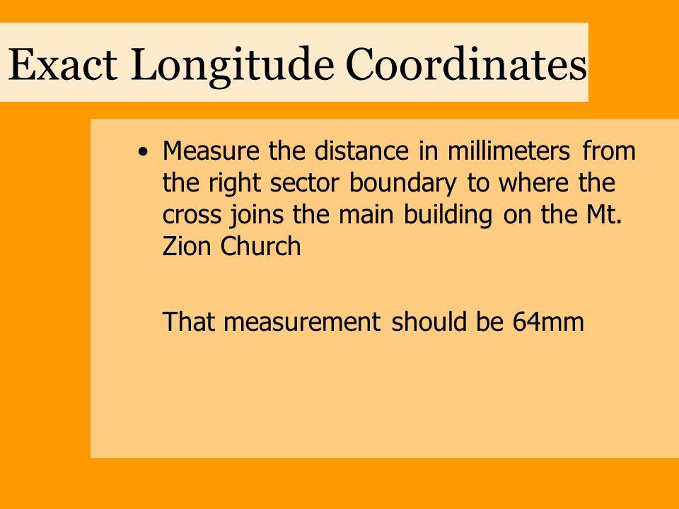 Exact Longitude Coordinates