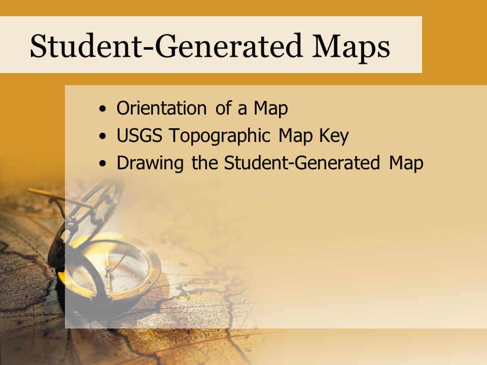 Student-Generated Maps
