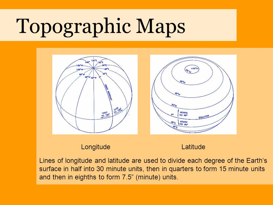 Topographic Maps Longitude Latitude