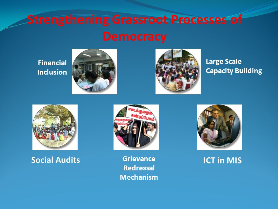 Strengthening Grassroot Processes of Democracy