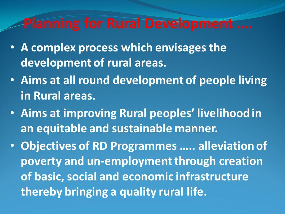 Planning for Rural Development ….