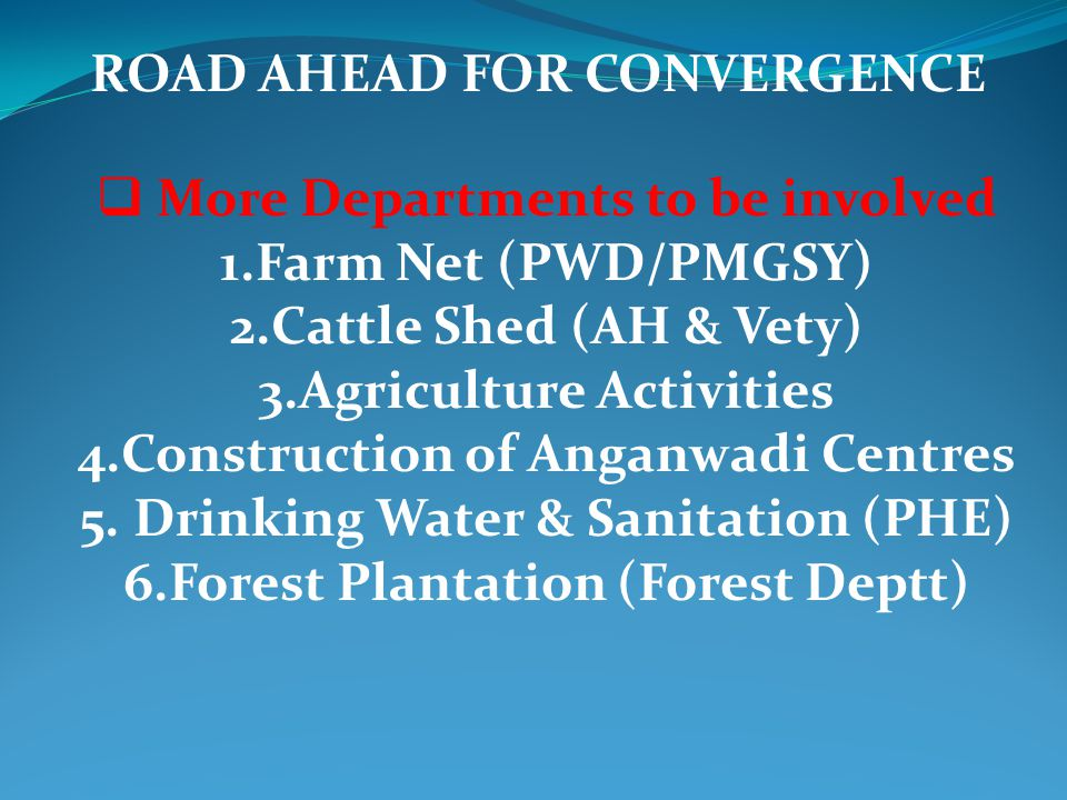 ROAD AHEAD FOR CONVERGENCE