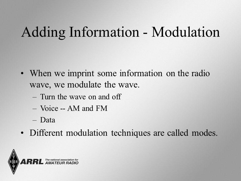 Adding Information - Modulation