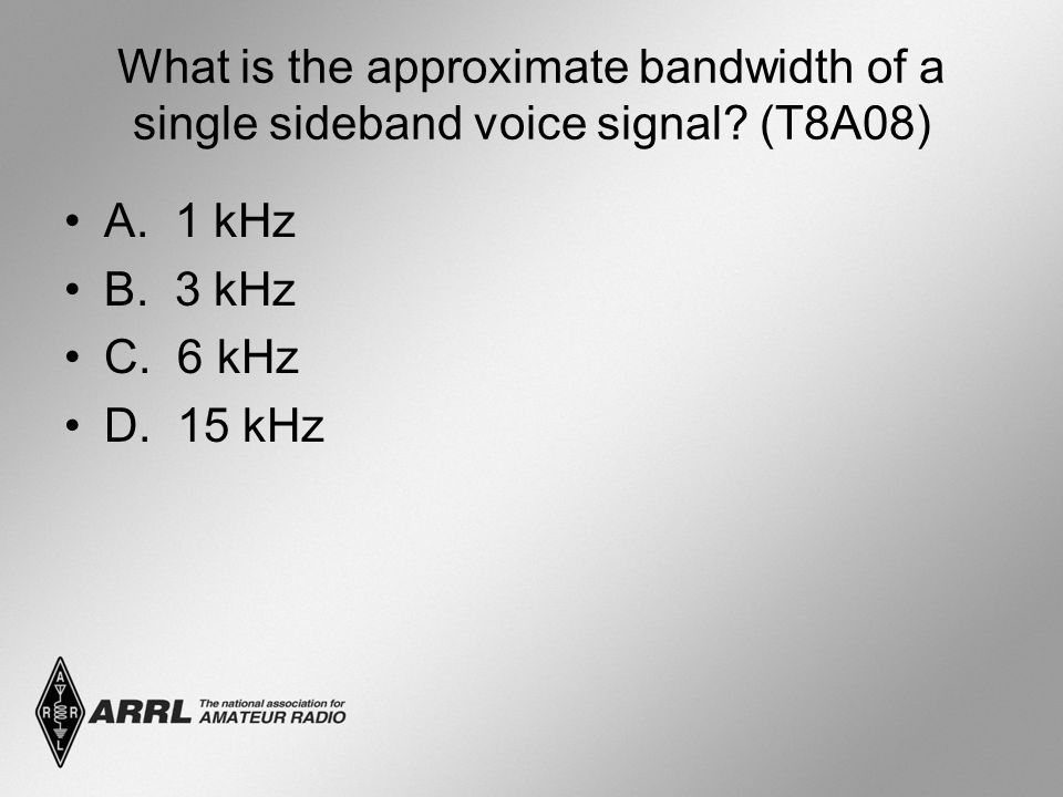 What is the approximate bandwidth of a single sideband voice signal