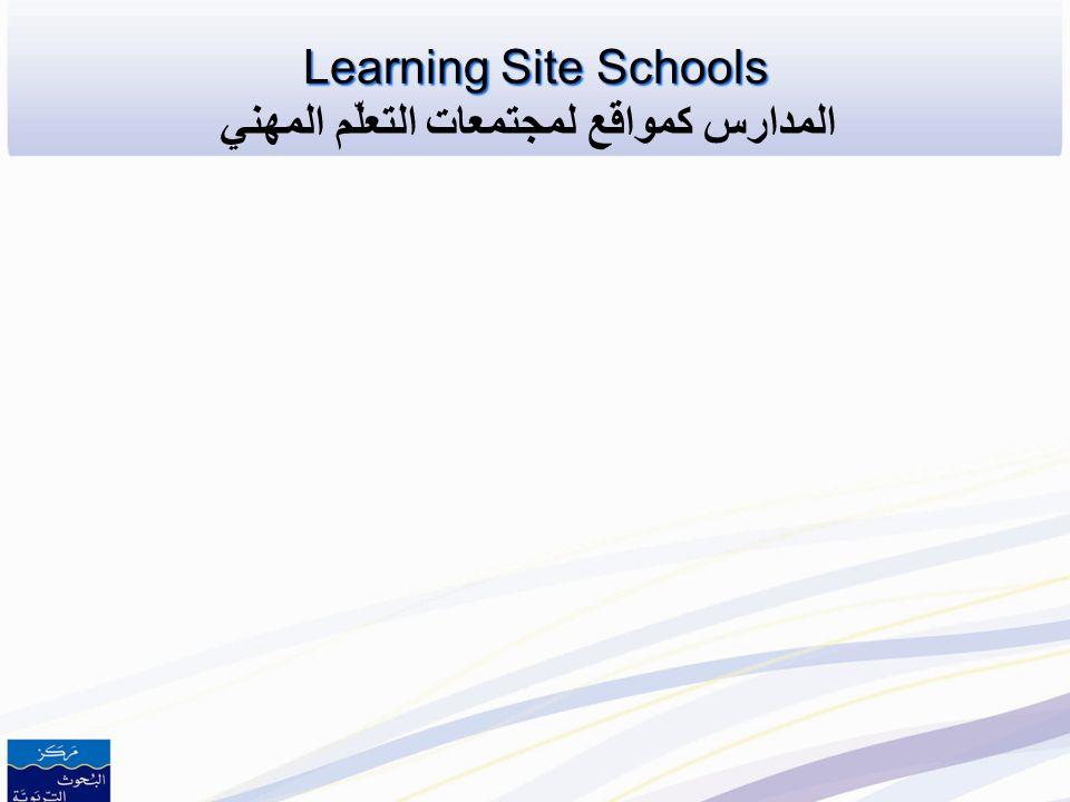 Learning Site Schools المدارس كمواقع لمجتمعات التعلّم المهني