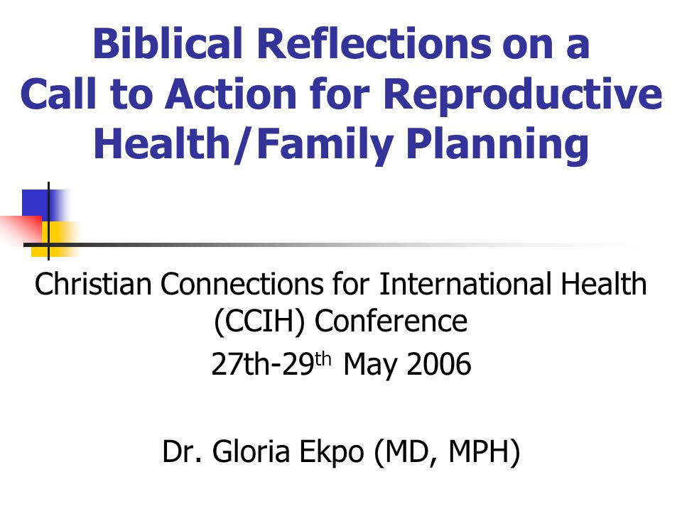 Christian Connections for International Health (CCIH) Conference