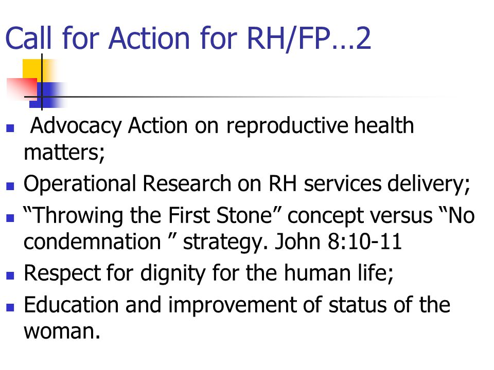 Call for Action for RH/FP…2