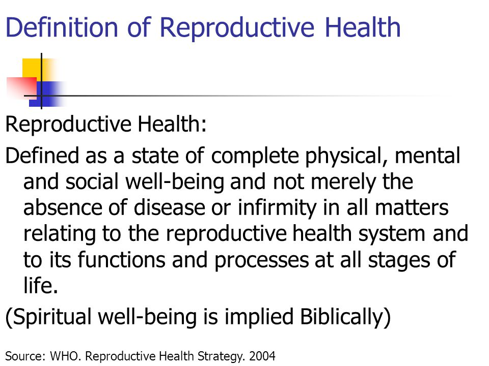 Definition of Reproductive Health