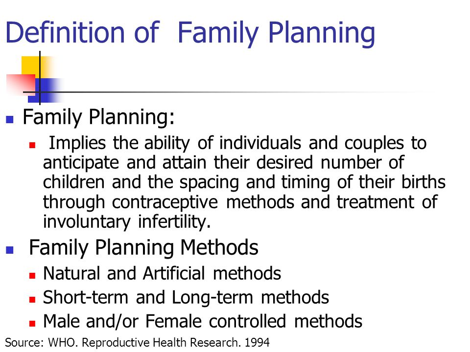 Definition of Family Planning