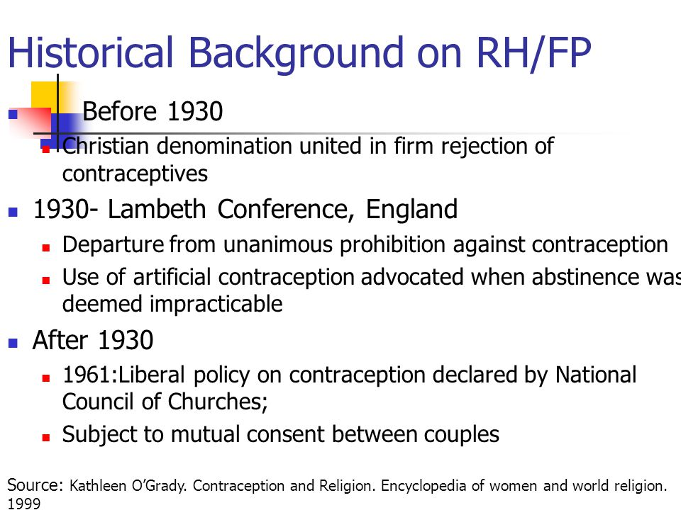 Historical Background on RH/FP