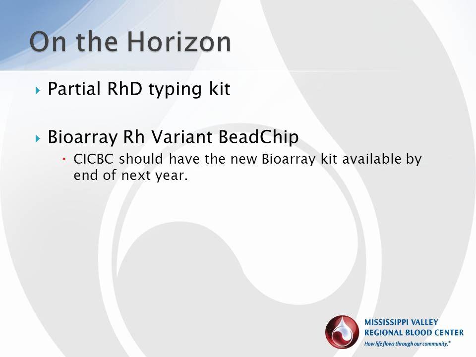 On the Horizon Partial RhD typing kit Bioarray Rh Variant BeadChip