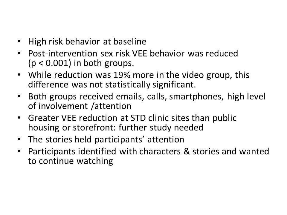 High risk behavior at baseline