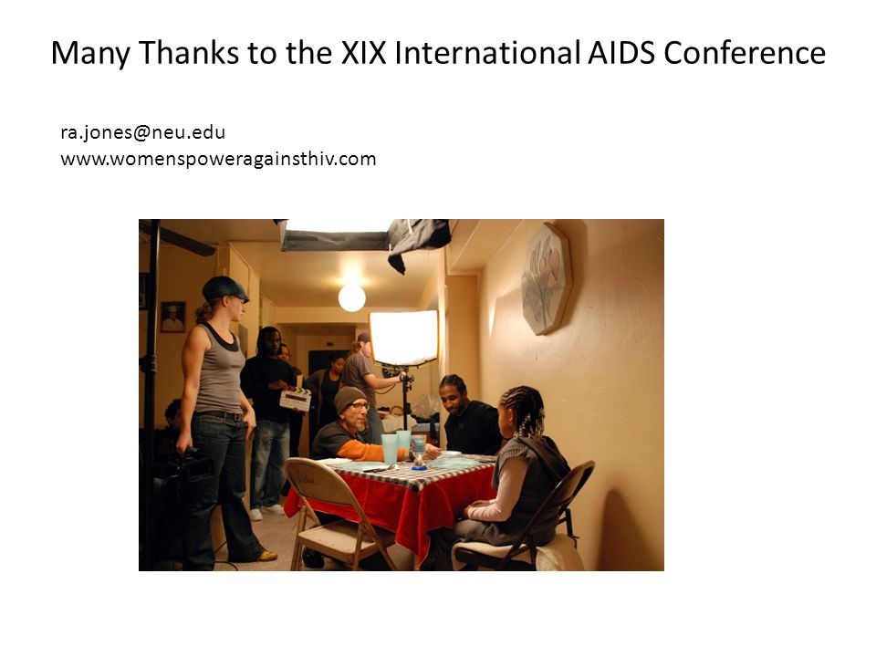 Many Thanks to the XIX International AIDS Conference