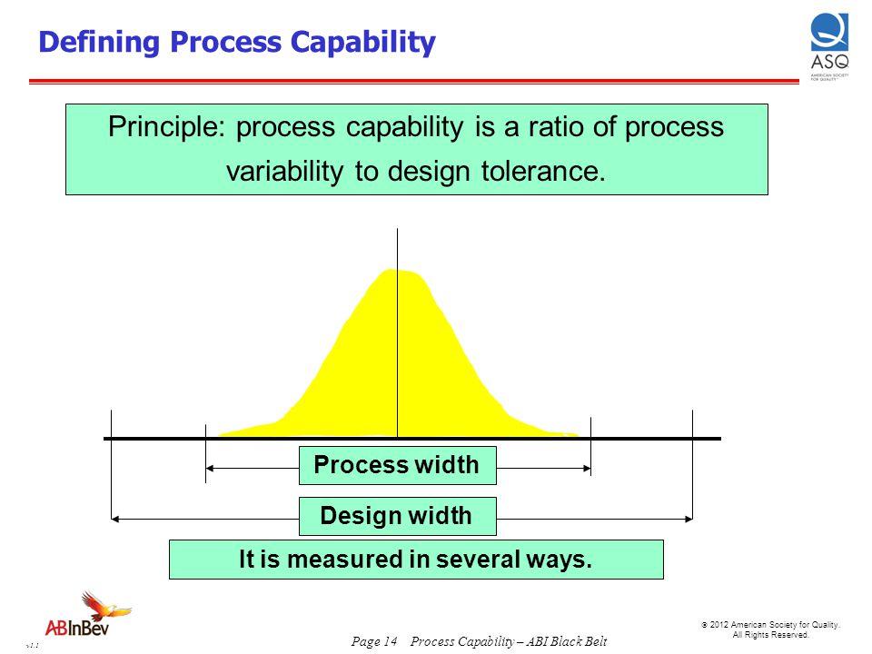Defining Process Capability