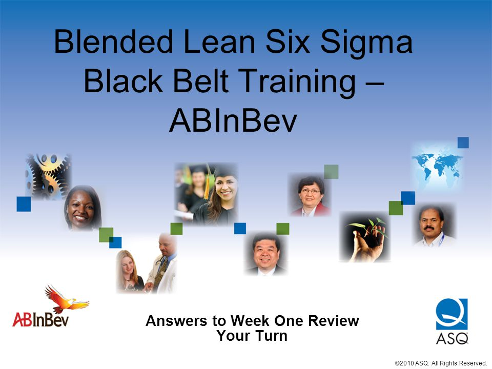 Blended Lean Six Sigma Black Belt Training – ABInBev
