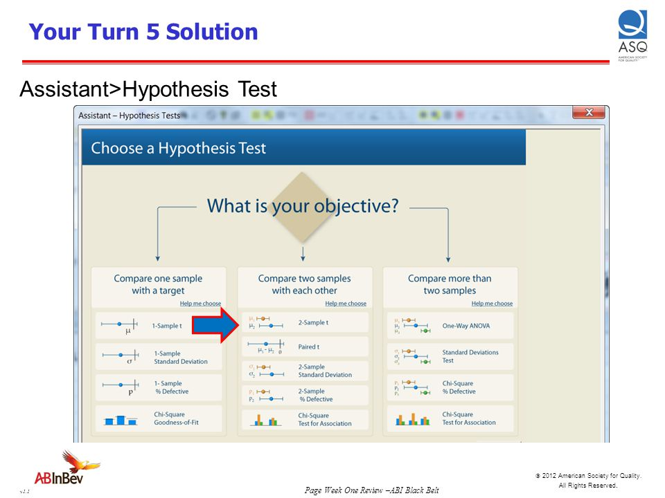 Your Turn 5 Solution Assistant>Hypothesis Test
