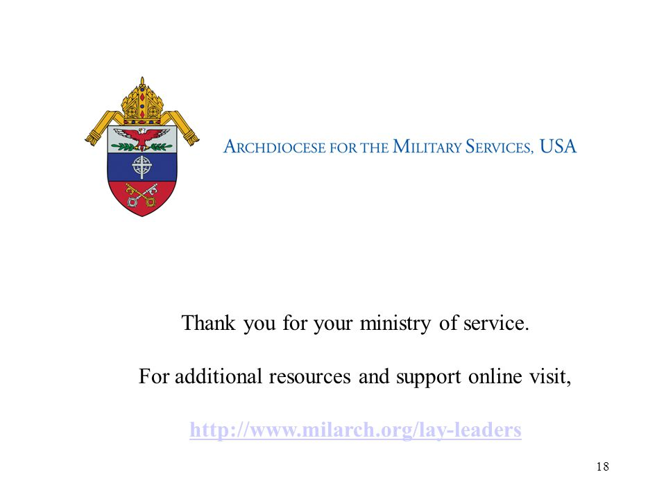 Thank you for your ministry of service.