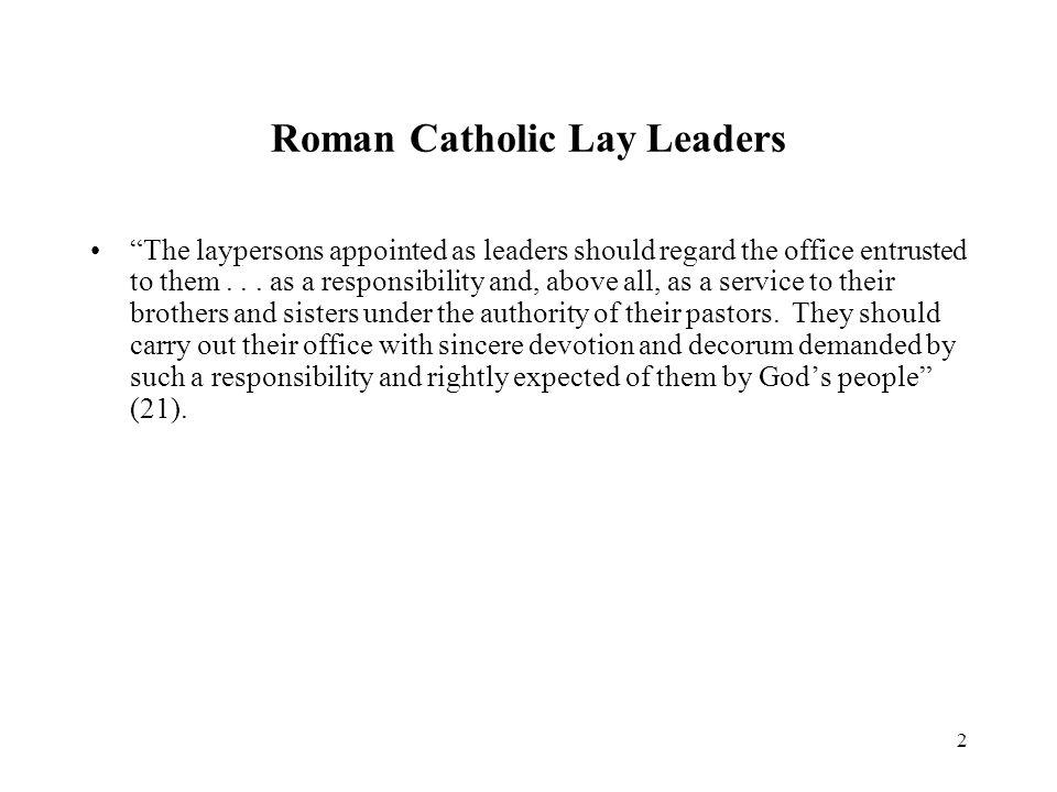Roman Catholic Lay Leaders