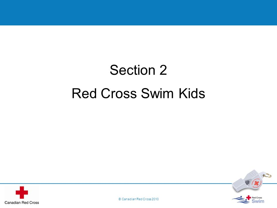Section 2 Red Cross Swim Kids