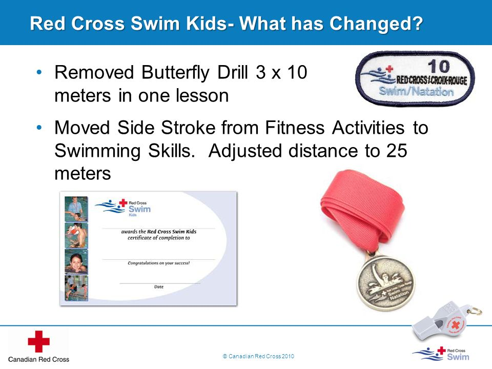 Red Cross Swim Kids- What has Changed