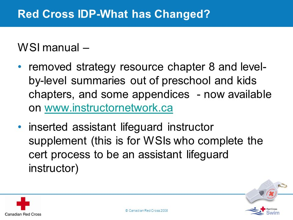 Red Cross IDP-What has Changed