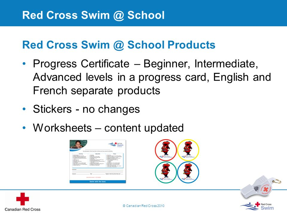 Red Cross Swim @ School Products
