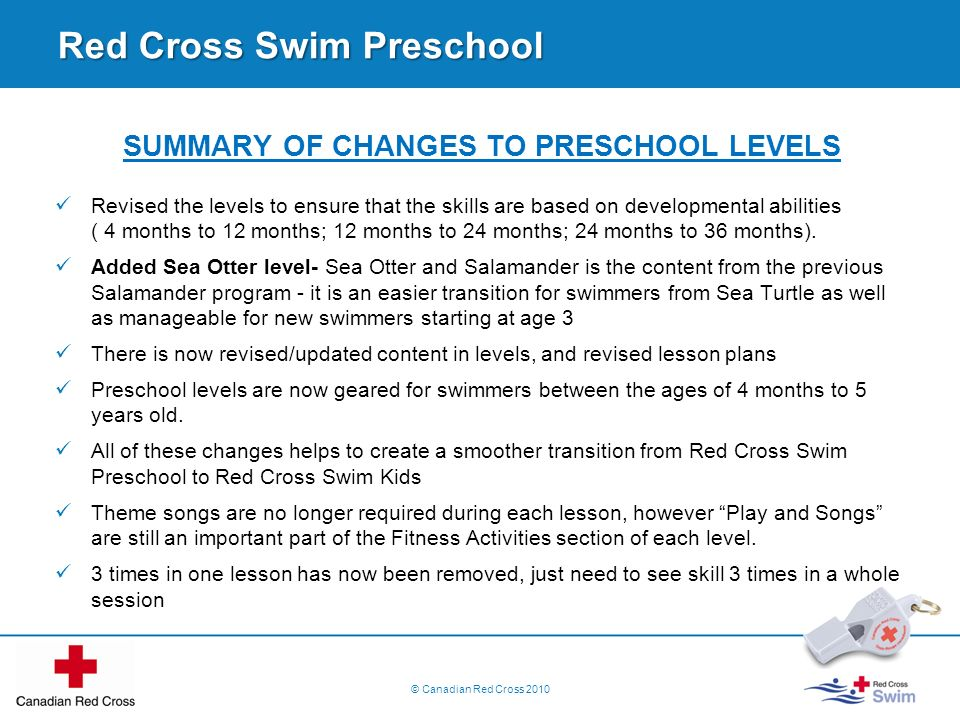 Red Cross Swim Preschool