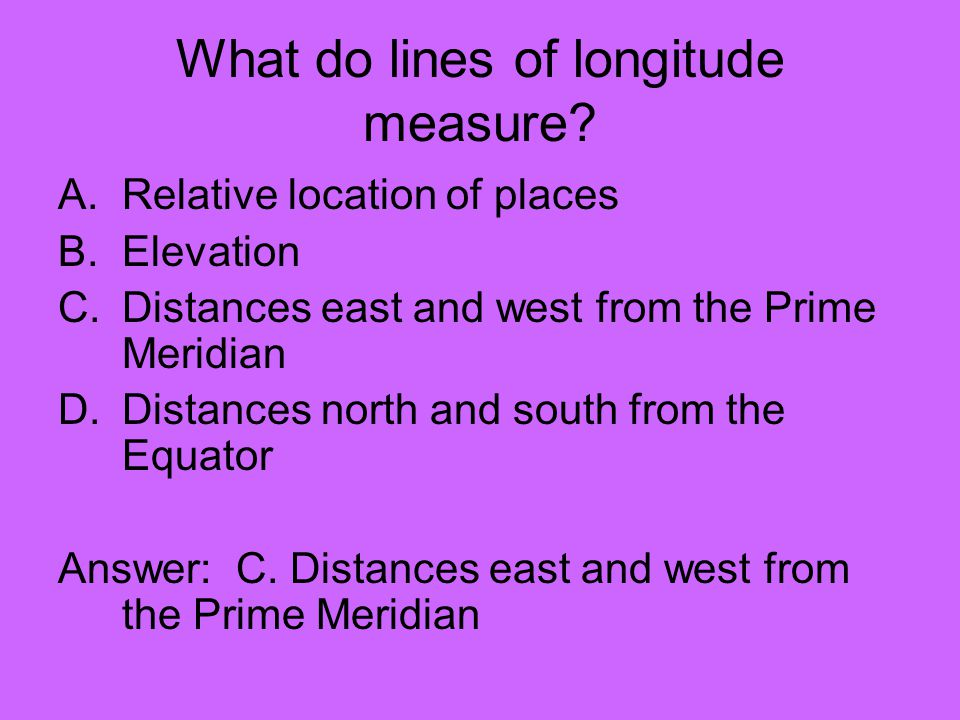 What do lines of longitude measure