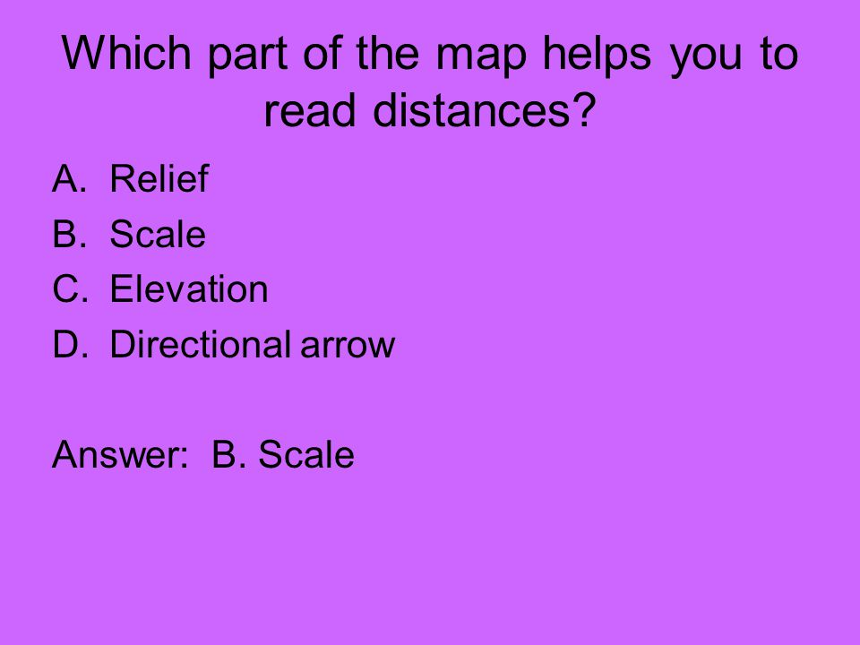 Which part of the map helps you to read distances