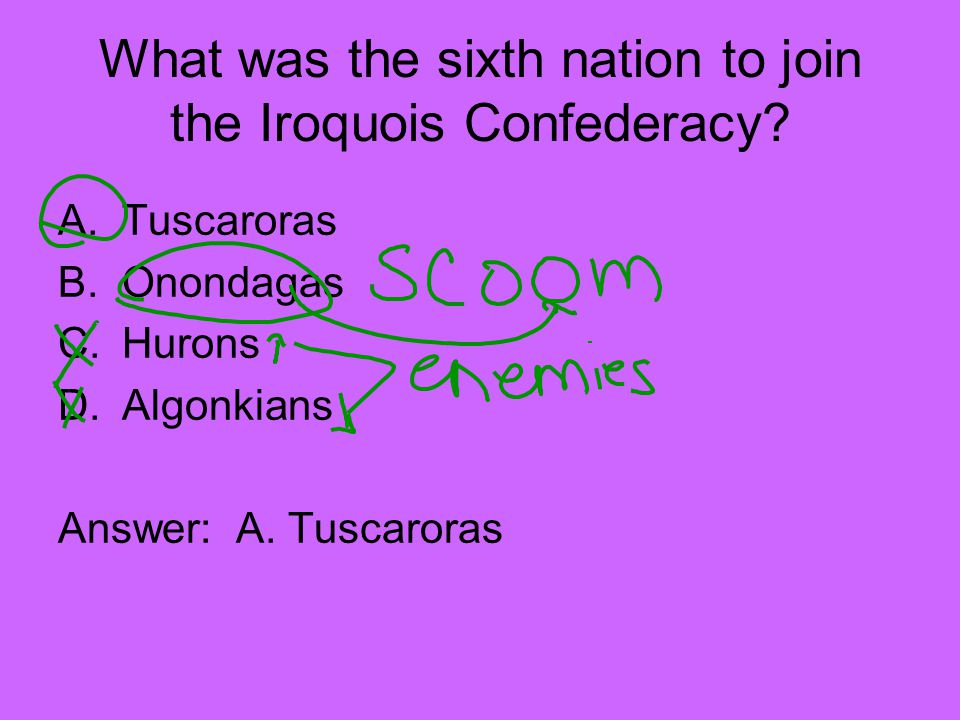 What was the sixth nation to join the Iroquois Confederacy
