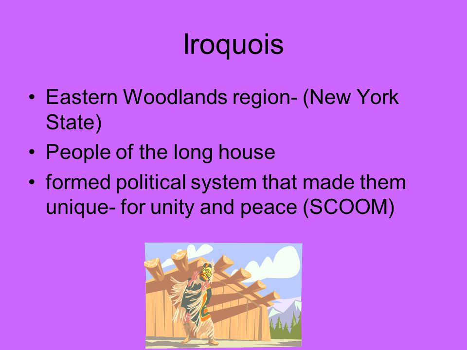 Iroquois Eastern Woodlands region- (New York State)