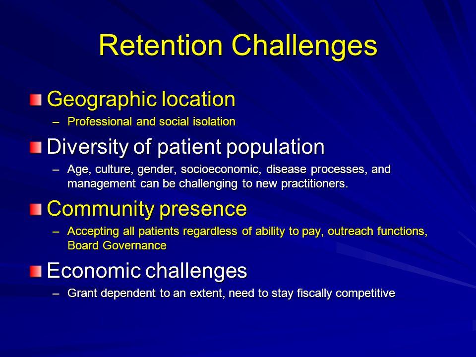 Retention Challenges Geographic location
