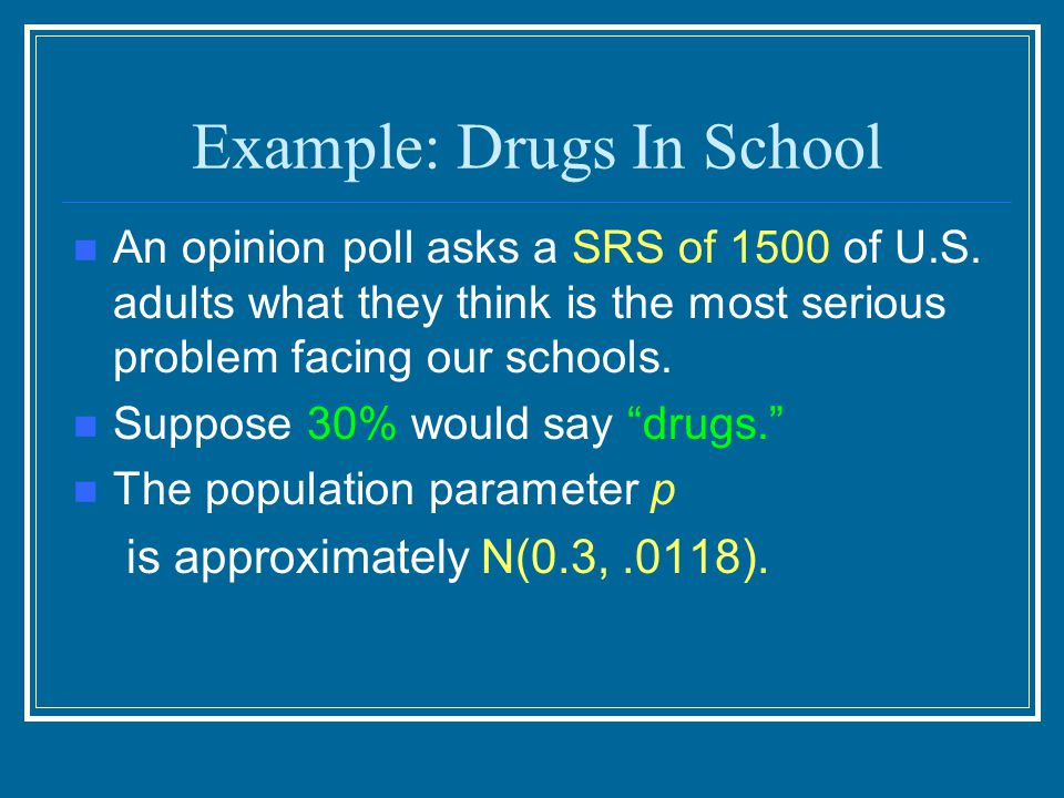 Example: Drugs In School