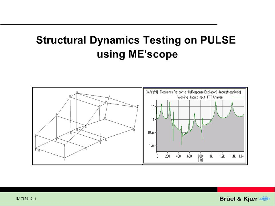 Structural Dynamics Testing on PULSE using ME scope