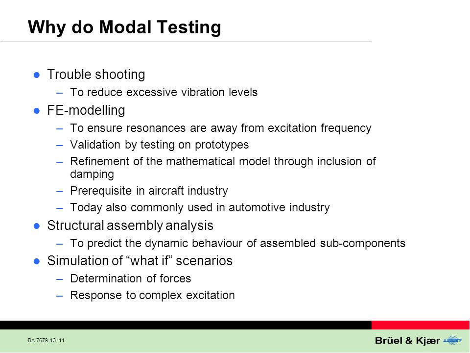 Why do Modal Testing Trouble shooting FE-modelling