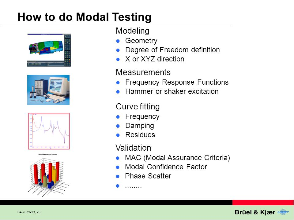 How to do Modal Testing Modeling Measurements Curve fitting Validation