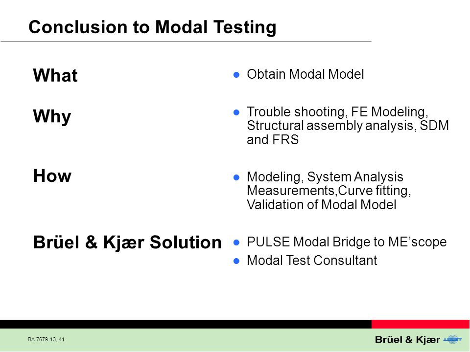 Conclusion to Modal Testing