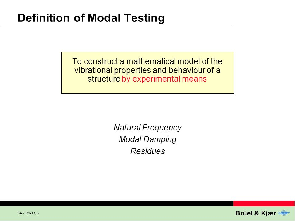 Definition of Modal Testing